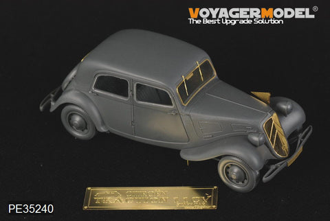 Voyager model metal etching sheet PE35240 World War II Citroen 11CV Senior Officer contact vehicle upgrades Metal etching Kit
