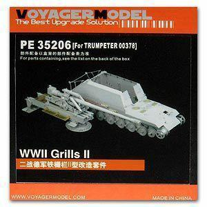 Voyager model metal etching sheet PE35206 World War II German Iron fence II heavy Self-propelled Gun upgrade Metal Etch
