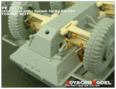 Voyager PE35116 Sd.Kfz.234 Movable-suspension upgrade kit for eight-wheel armoured vehicles