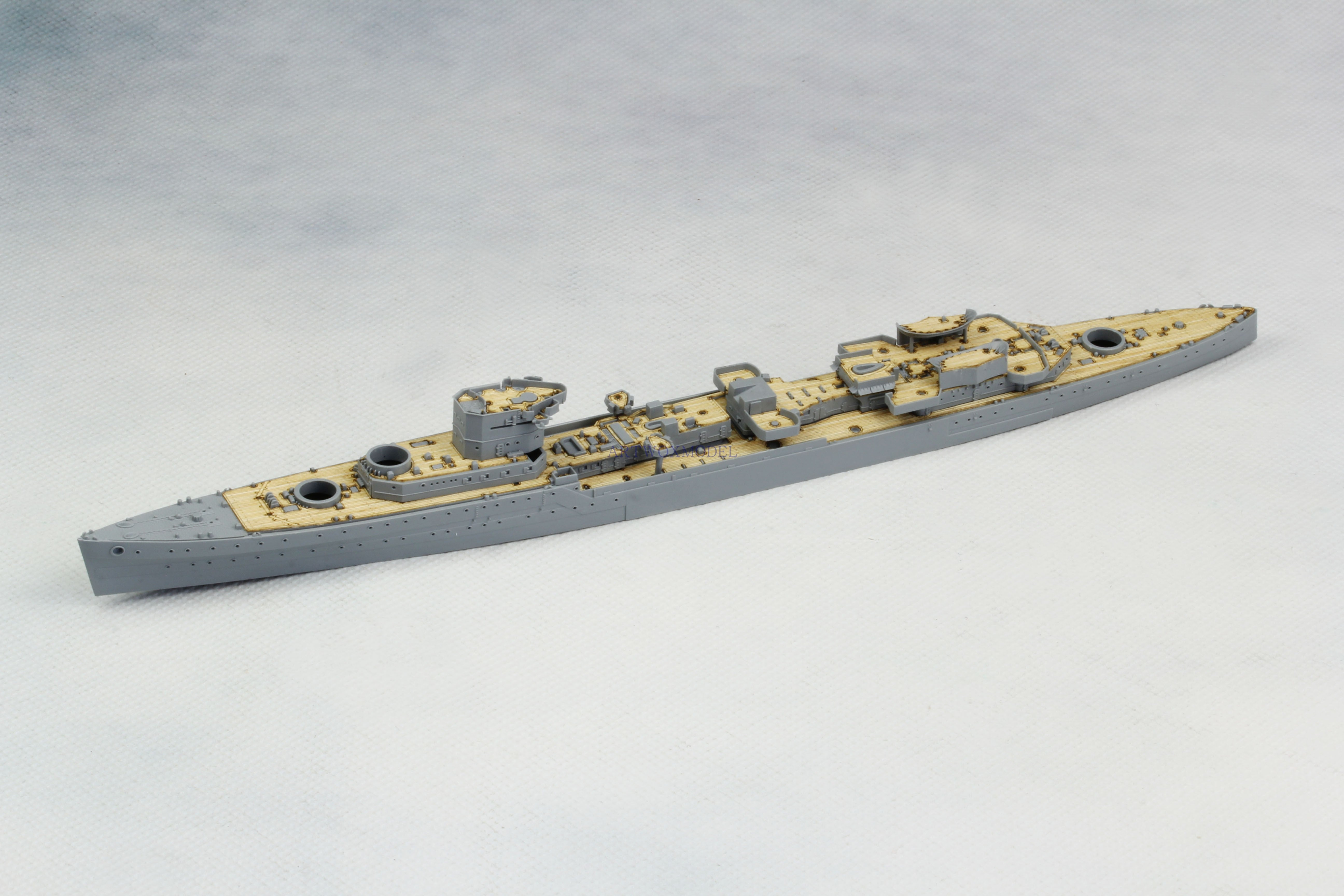 Artwox flyhawk 1127 royal navy light cruiser USS dawn 1945 wooden deck aw 20158
