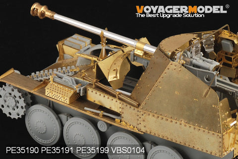 Voyager model metal etching sheet PE35191 mink IIIM self propelled anti tank gun etched armor plate for initial battle room armor