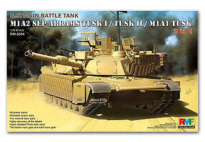 Rye Field 1/35 scale model RM5004 M1A2 SEP TUSK 1/TUSK 2/M1A1 TUSK main battle tank