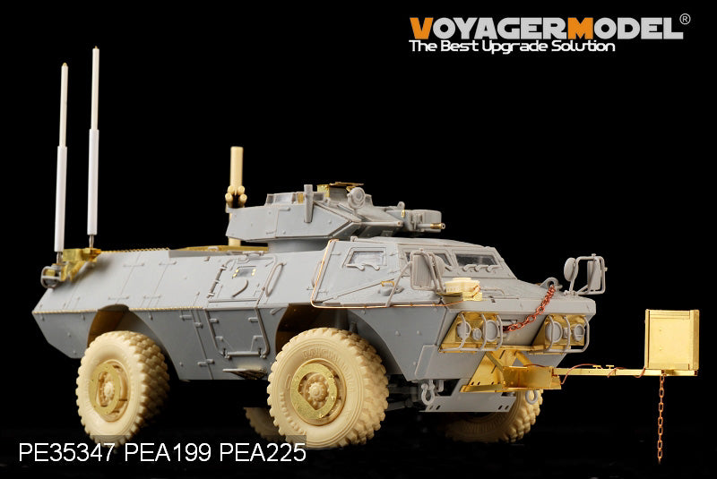Resin tires for Voyager PEA199 M1117 wheeled armored vehicle