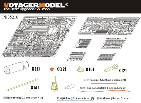 Voyager PE35210 4 chariot H upgraded metal etching parts (T Society)