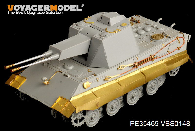 "Voyager PE 35469 world war ii german e - 75 "" crocodile"" upgrades metal etchings for air combat vehicles"