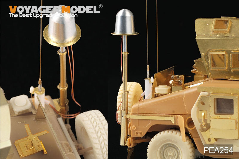 Retrofit of metal telescopic ECM antenna for Voyager PEA254 Hummer Light Tactical Vehicle