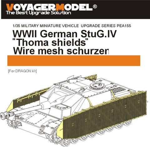 Voyager PE a155 4 assault gun steel wire mesh side additional armor plate metal etcher