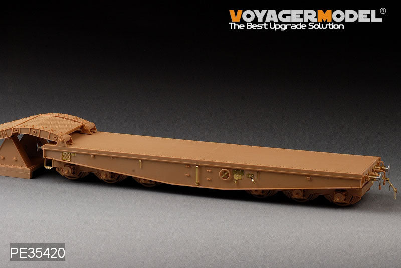 Voyager model metal etching sheet PE35420 Germany 80 ton railway heavy plate transport carrying metal transformation metal etching parts