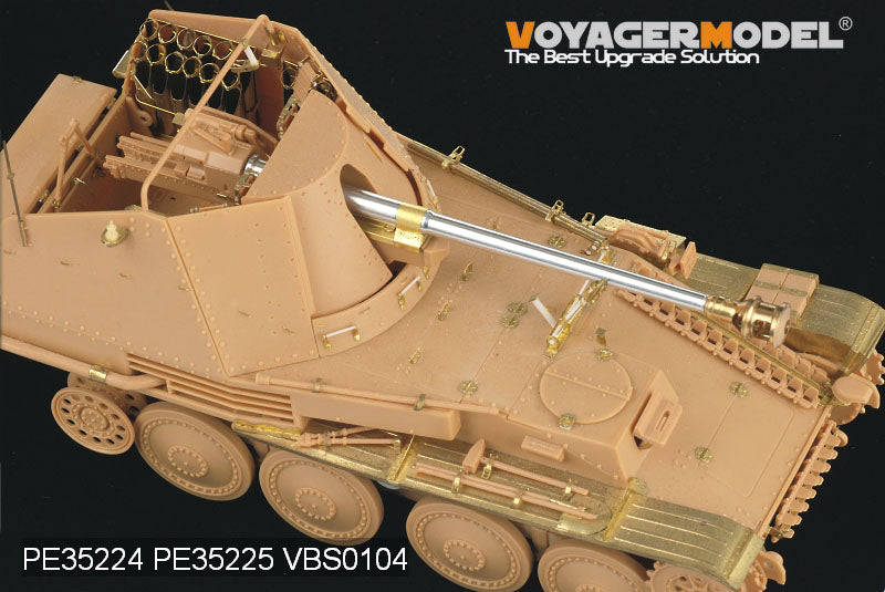 Voyager PE35224 mink IIIM self propelled antitank gun retrofit with base metal etch (T)