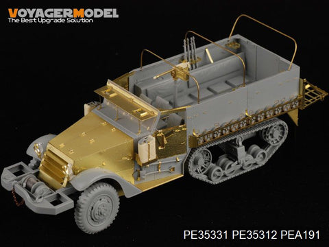 Voyager PE 35331 m3 semi-tracked armored personnel carrier upgrade metal etched sheet