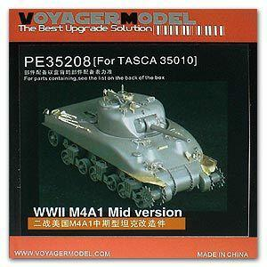 "Voyager PE35208 M4A1 ""Sherman"" chariot upgraded with etched parts (Dragon /TASCA)"