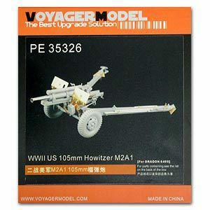 Voyager PE35326 Metal etchings for upgrading and upgrading of M2A1 105mm towed howitzer (dragon)