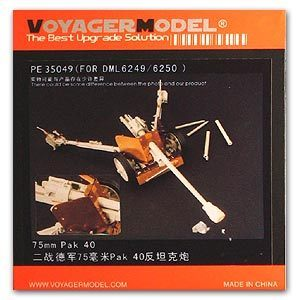 Voyager model metal etching sheet PE35049 PAK40 7.5 cm Metal etching for upgrading traction anti-tank gun