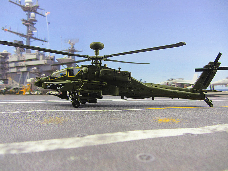 KNL Hobby diecast model The Apache helicopter model AH-64D high simulation of static finished aircraft 1:72 US Army