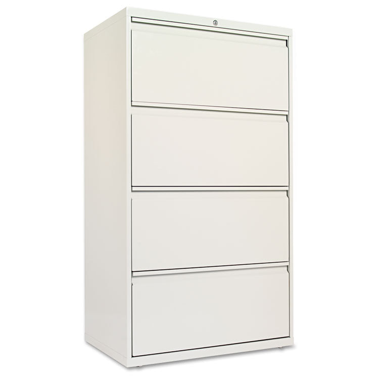 Four-Drawer Lateral File Cabinet, 30w X 19-1/4d X 53-1/4h, Light Gray