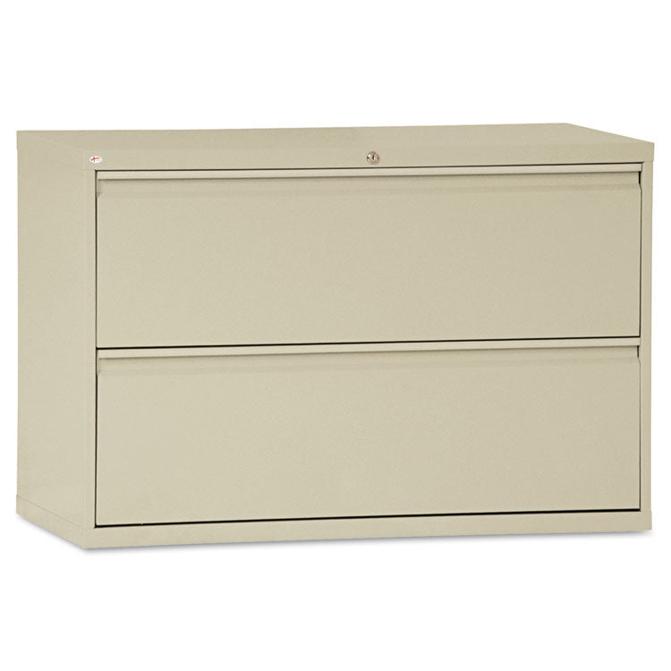 Two-Drawer Lateral File Cabinet, 42w X 19-1/4d X 28-3/8h, Putty