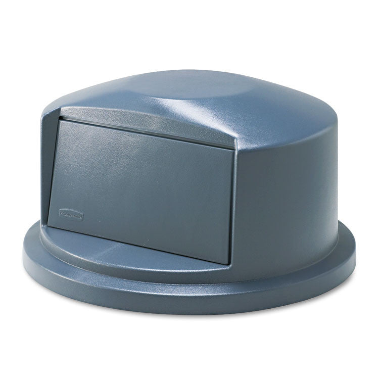 Brute Dome Top Swing Door Lid For 32 Gallon Waste Containers, Plastic, Gray