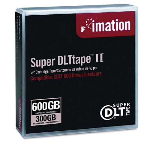 "1/2"" Super Dlt Ii Cartridge, 2066ft, 300gb Native/600gb Comp. Cap"