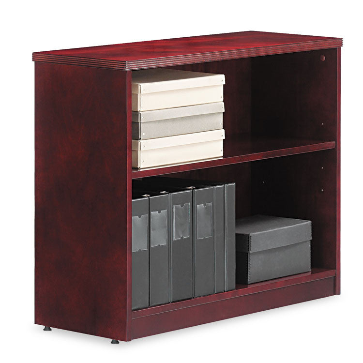 Alera Verona Veneer Series Bookcase,two-Shelf, 35-1/2w X 14d X 29-1/2h, Mahogany