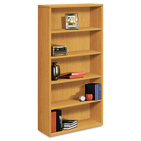 10500 Series Laminate Bookcase, Five-Shelf, 36w X 13-1/8d X 71h, Harvest