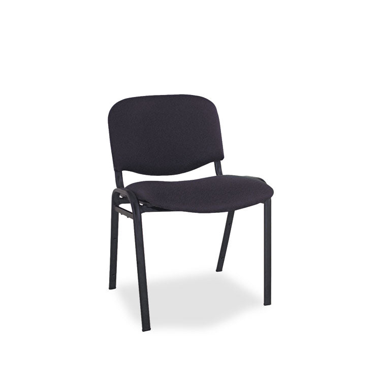 Alera Continental Series Stacking Chairs, Black Fabric Upholstery, 4/carton