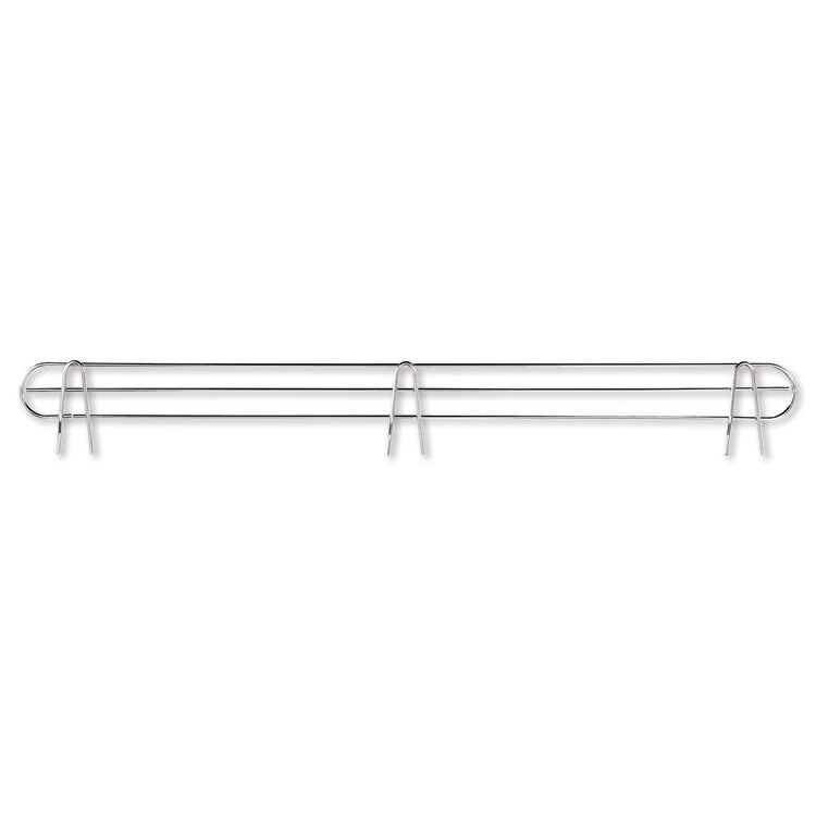"Wire Shelving Back Support, 48"" Wide, Silver, 2 Supports/pack"