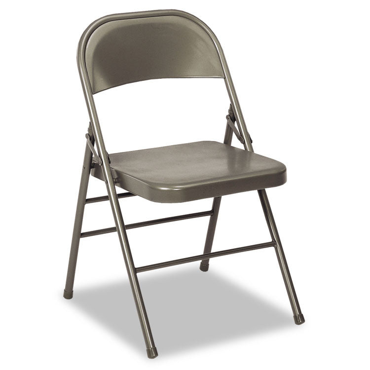 60-810 Series All Steel Folding Chairs, Dark Gray, 4/carton