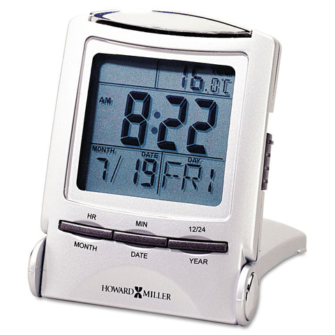 "Distant Time Traveler Alarm Clock, 2-1/4"", Silver, 1 Aaa (incl)"