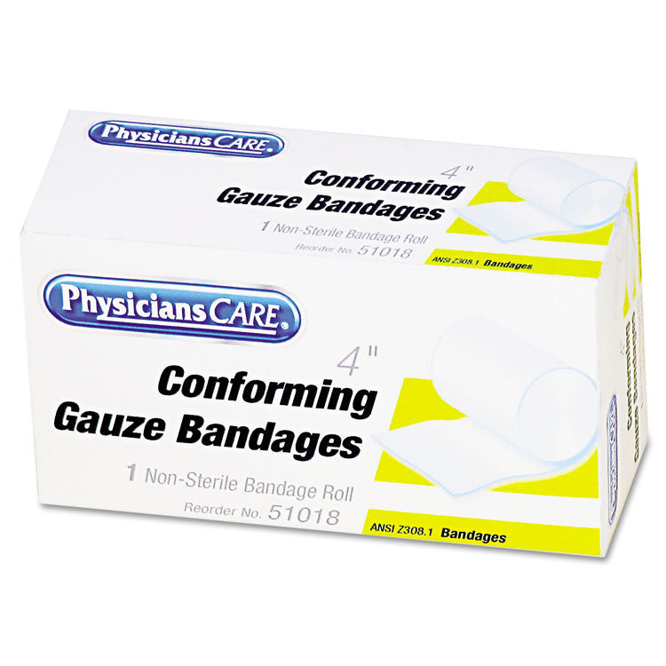"First Aid Conforming Gauze Bandage, 4"" Wide"