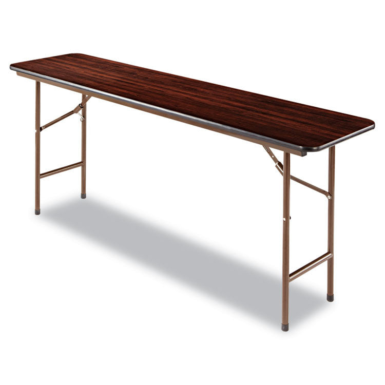 Wood Folding Table, Rectangular, 72w X 18d X 29h, Walnut
