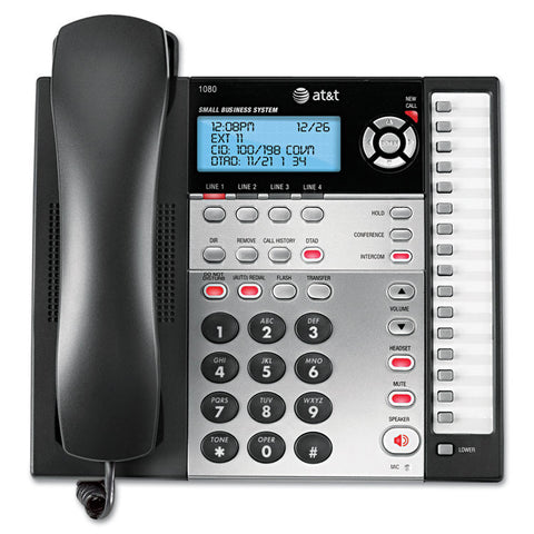 1080 Corded Four-Line Expandable Telephone, Caller Id And Answering Machine