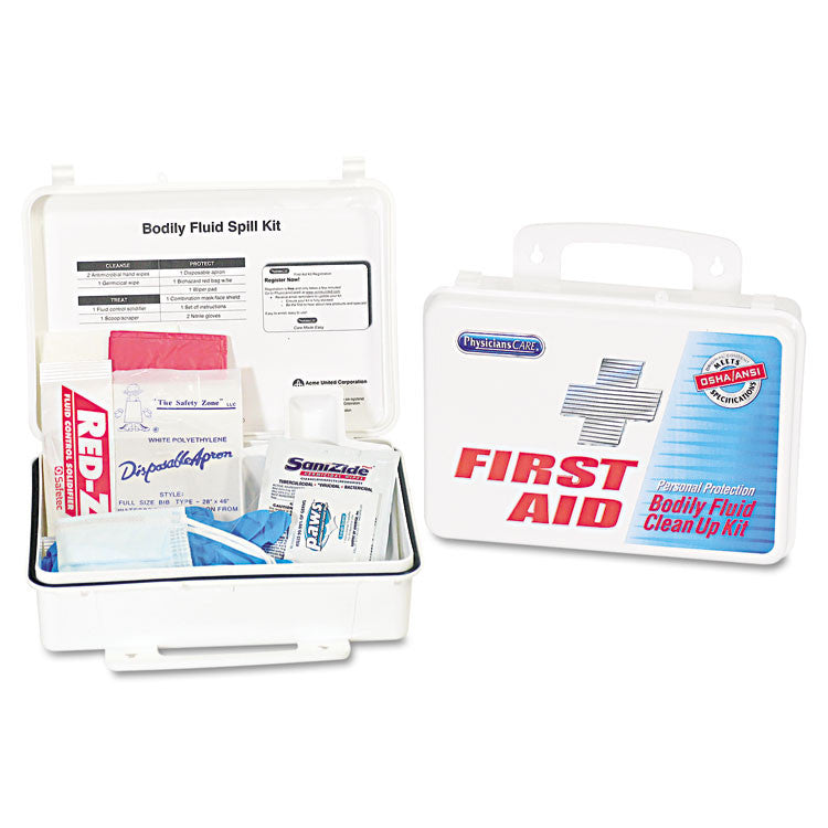 Emergency First Aid Bodily Fluid Spill Kit, 1 Kit