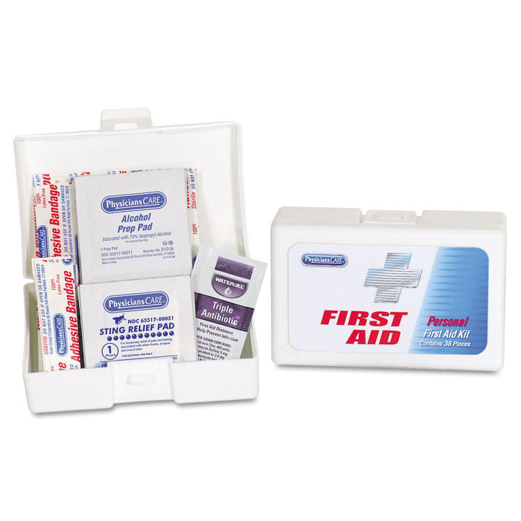 Personal First Aid Kit, 38 Pieces/kit