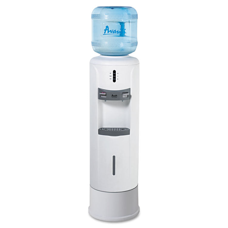 "Hot And Cold Water Dispenser, 12 3/4"" Dia. X 39h, Ivory White"