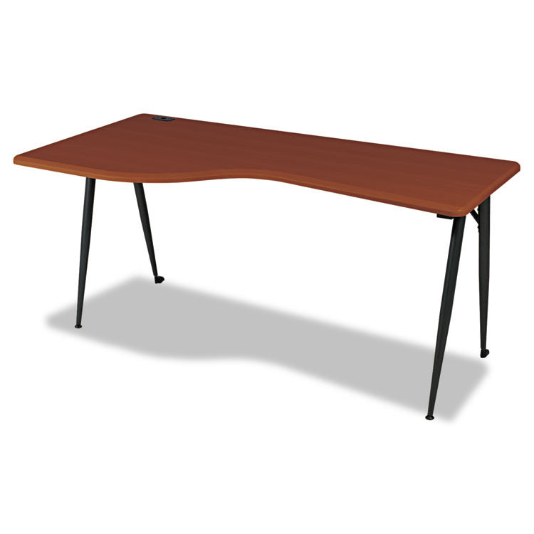 Iflex Series Full Table-Left, 65w X 31d X 29h, Cherry/black