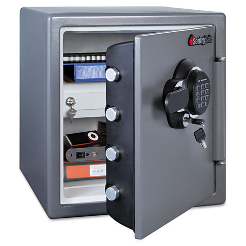Electronic Fire Safe, 1.23 Ft3, 16 3/8w X 19 3/8d X 17 7/8h, Gunmetal Gray