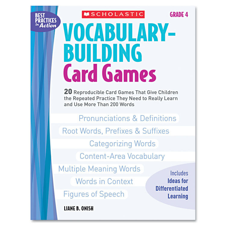 Vocabulary Building Card Games, Grade Four, 80 Pages