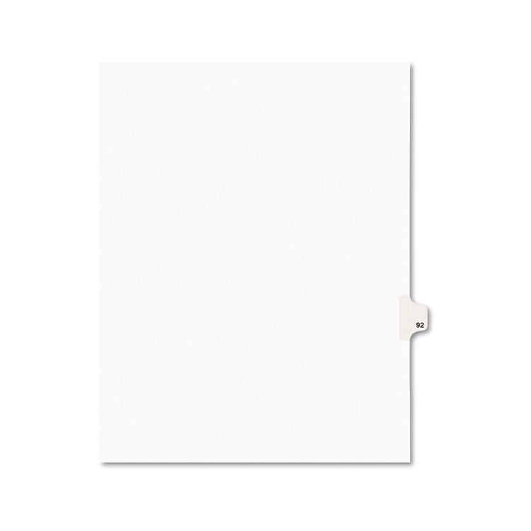 Avery-Style Legal Exhibit Side Tab Divider, Title: 92, Letter, White, 25/pack