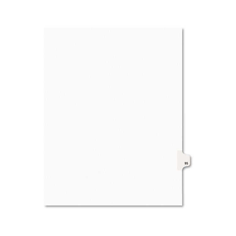 Avery-Style Legal Exhibit Side Tab Divider, Title: 95, Letter, White, 25/pack