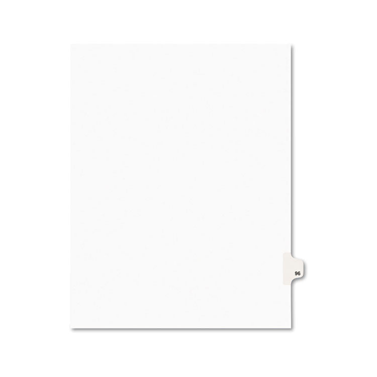 Avery-Style Legal Exhibit Side Tab Divider, Title: 96, Letter, White, 25/pack