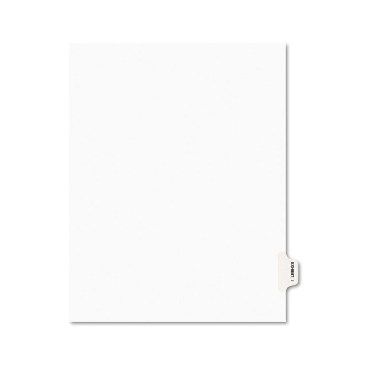 Avery-Style Preprinted Legal Side Tab Divider, Exhibit I, Letter, White, 25/pack