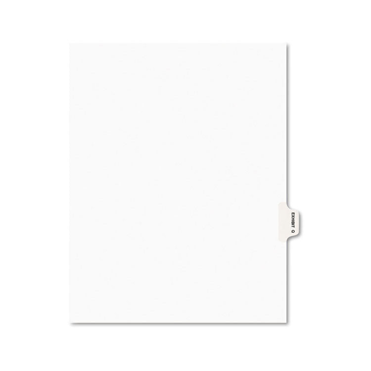 Avery-Style Preprinted Legal Side Tab Divider, Exhibit Q, Letter, White, 25/pack