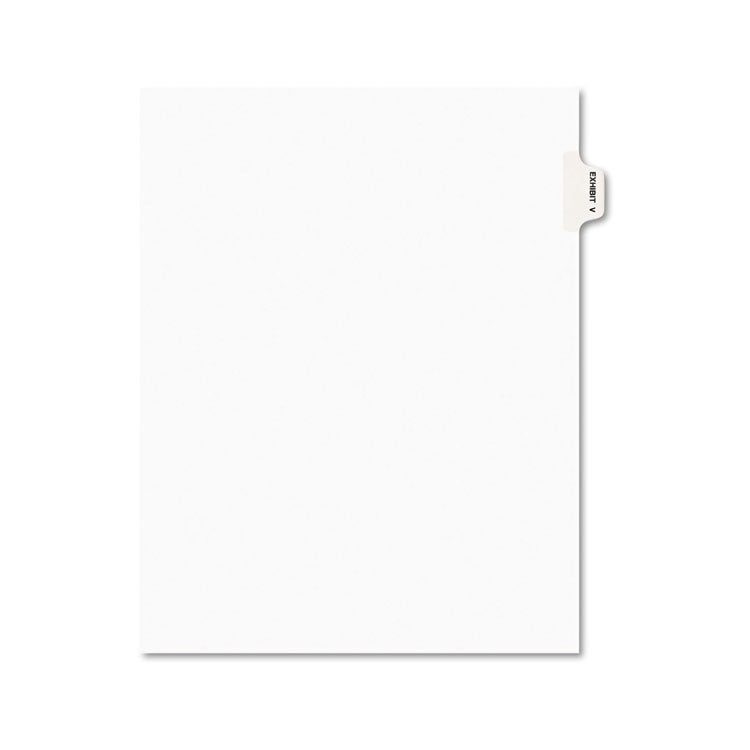 Avery-Style Preprinted Legal Side Tab Divider, Exhibit V, Letter, White, 25/pack