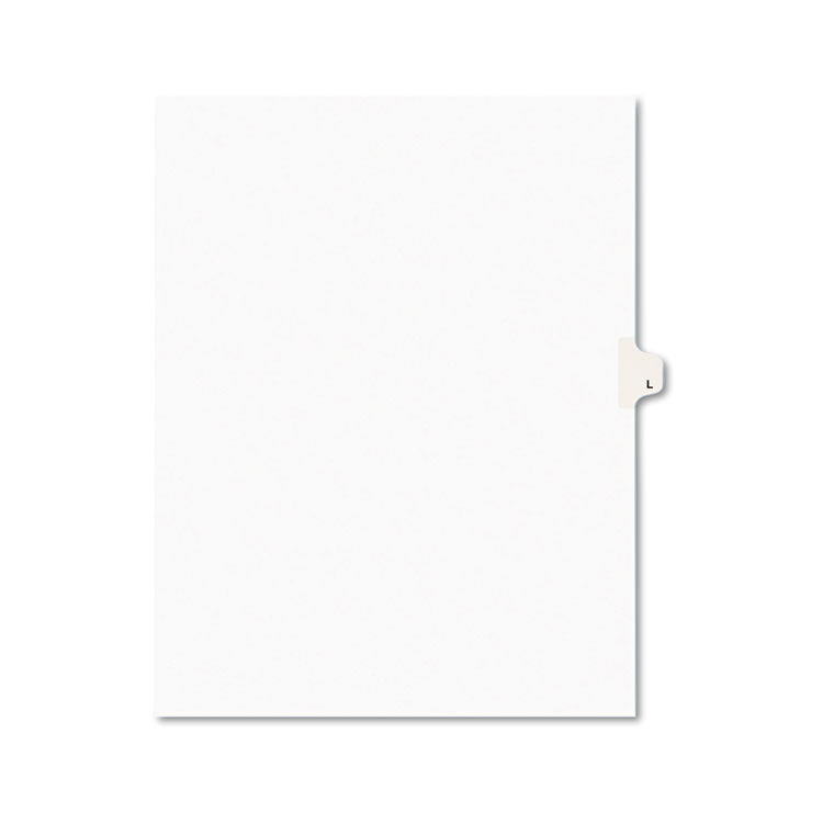 Avery-Style Legal Exhibit Side Tab Dividers, 1-Tab, Title L, Ltr, White, 25/pk