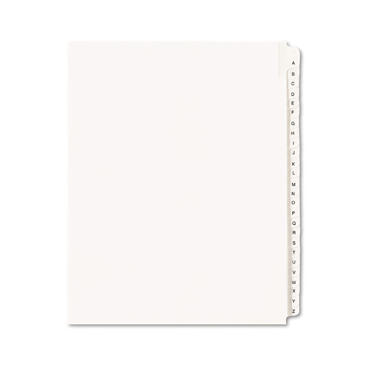 Allstate-Style Legal Exhibit Side Tab Dividers, 26-Tab, A-Z, Letter, White