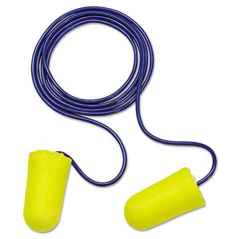 E A R Taperfit 2 Single-Use Earplgs, Corded, 32nrr, Yellow/blue, 200 Pairs