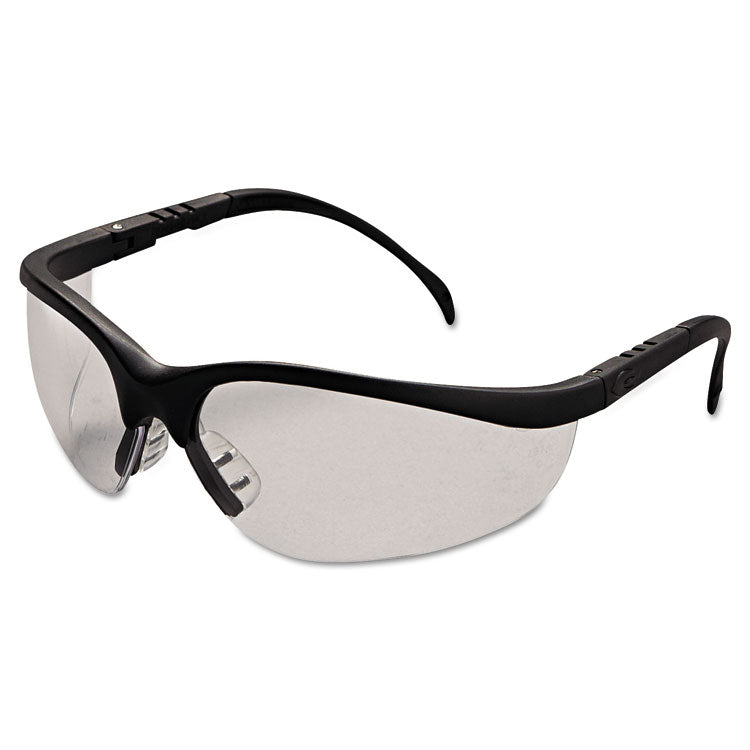 Klondike Safety Glasses, Matte Black Frame, Clear Lens