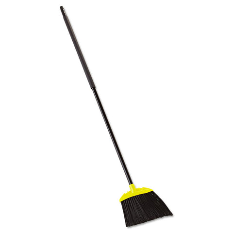 "Jumbo Smooth Sweep Angled Broom, 46"" Handle, Black/yellow"