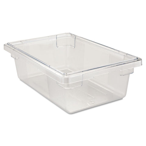 Food/tote Boxes, 3 1/2gal, 18w X 12d X 6h, Clear