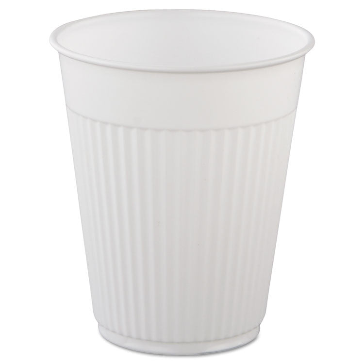 Plastic Medical & Dental Cups, 5 Oz, White, Fluted, 1000 Cups/carton